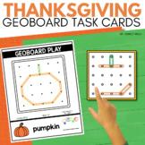 THANKSGIVING Geoboard Task Cards for November STEM