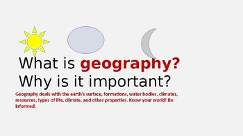 GEOGRAPHIA: A GEOGRAPHY CURRICULUM