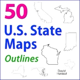 GEOGRAPHY | 50 U.S. State Maps (Outlines) | Grades K-12