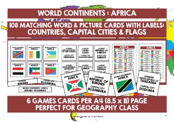 GEOGRAPHY AFRICA CARDS