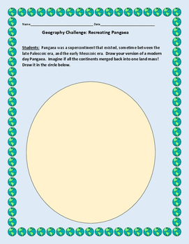 GEOGRAPHY CHALLENGE: RECREATING PANGAEA