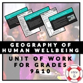 GEOGRAPHY OF HUMAN WELLBEING UNIT