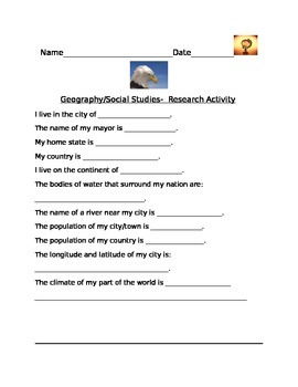 GEOGRAPHY RESEARCH ACTIVITY