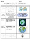 GEOGRAPHY STUDY GUIDE- Maps, Latitude, Longitude, ETC. ETC