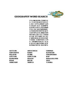 GEOGRAPHY WORD SEARCH