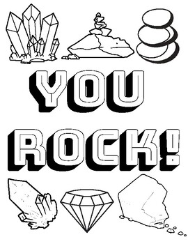 Geology Rock Camp Activites Coloring Page And Diy Geodes By Catch My Drift