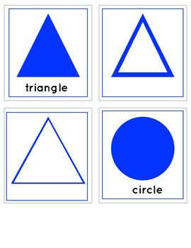 GEOMETRIC SHAPES: 3 Part Cards