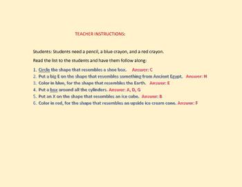 GEOMETRIC SOLIDS ACTIVITY          K-2