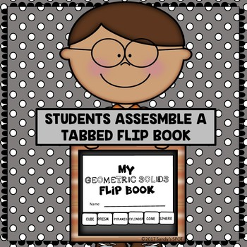 GEOMETRIC SOLIDS Mini Flip Tabbed Book Virginia SOL Grades 3 and up aligned