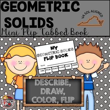 GEOMETRIC SOLIDS Mini Flip Tabbed Book