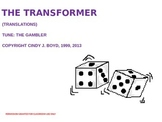 GEOMETRIC TRANSFORMATIONS SONG