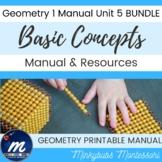 Geometry 1 Lesson Plans Basic Concepts inc Movable Resources Games Unit 5 BUNDLE