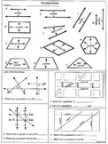 Geometry 8-Test  and Practice: Number Line, Parallel, and Perpendicular