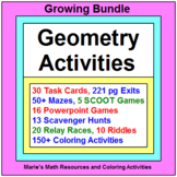 "GEOMETRY: ACTIVITIES ""GROWING"" BUNDLE WITH 150+ COLORING ACTIVITIES"