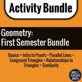 GEOMETRY ACTIVITY BUNDLE:  First Semester