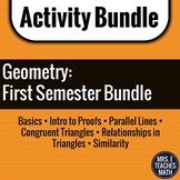 GEOMETRY ACTIVITY BUNDLE  First Semester