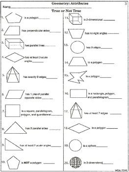 geometry attributes printable worksheets by wilbert. Black Bedroom Furniture Sets. Home Design Ideas