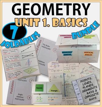 GEOMETRY BASICS. UNIT 1. GEOMETRY Foldables Bundle