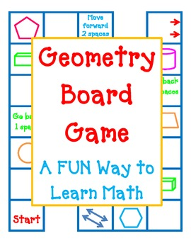 GEOMETRY BOARD GAME - A FUN Way to Review Angles Lines Shapes All Year Long!