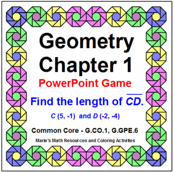 GEOMETRY: CHAPTER 1 REVIEW POWERPOINT GAME WIPEOUT!