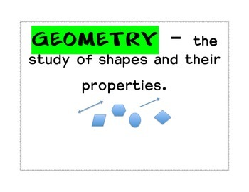 GRADE 4-6 COMMON CORE GEOMETRY Worksheets,Vocabulary and Word Strips