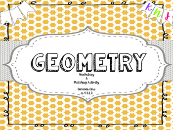 GEOMETRY: Common Core Vocab Posters and Center