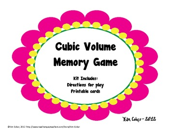 GEOMETRY Cubic Volume Memory Game