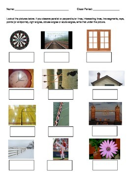 GEOMETRY Fun Picture Review Activity - Lines Transversals HSG-CO.A.1