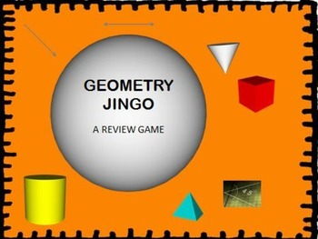 GEOMETRY JINGO (Quadrilaterals - Triangles - Polygons)