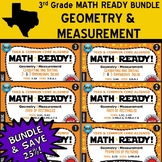 GEOMETRY/MEASUREMENT BUNDLE ~ MATH READY 3rd Grade – 6 Basic & Advanced Sets