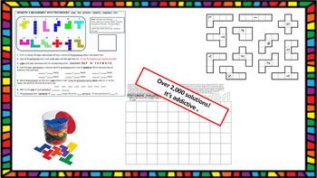 GEOMETRY & MEASUREMENT PENTOMINOES: cubes, area, perimeter, symmetry, congruence