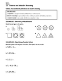 GEOMETRY - Notes Guide - 1.1 Patterns & Inductive Reasoning