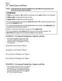 GEOMETRY - Notes Guide - 1.2 Points, Lines, and Planes