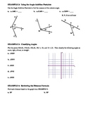 GEOMETRY - Notes Guide - 1.4 Angles and Their Measures