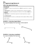 GEOMETRY - Notes Guide - 1.5 Segments and Angle Bisectors
