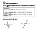 GEOMETRY - Notes Guide - 1.6 Angle Pair Relationships (Day 2)