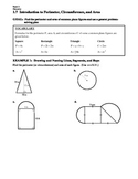 GEOMETRY - Notes Guide - 1.7 Intro to Perimeter, Circumfer