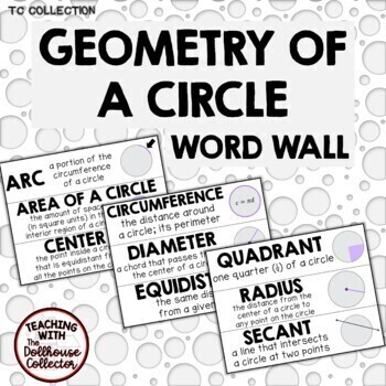 GEOMETRY OF A CIRCLE WORD WALL (7.G.B.4) - From the TC Collection