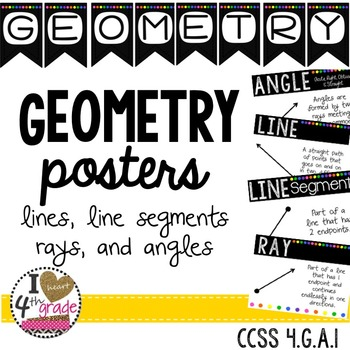 GEOMETRY POSTERS  CCSS 4.G.A.1