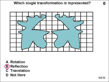Geometry Transformations Test: Reflection Translation Rotation (animated)