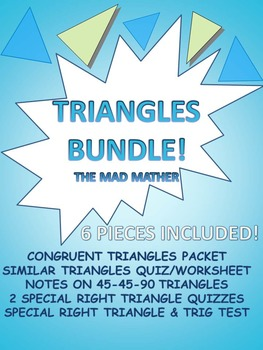 GEOMETRY TRIANGLES BUNDLE!
