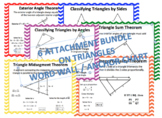 GEOMETRY TRIANGLES WORD WALL / ANCHOR CHART