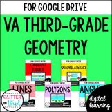 Geometry for Google Classroom DIGITAL Third-Grade Virginia VA SOL Bundle