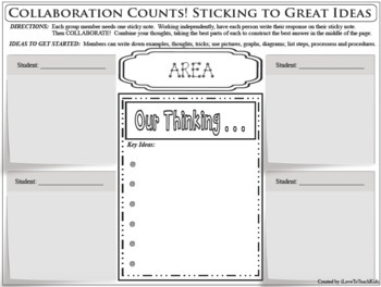 GEOMETRY Vocabulary Formula Collaboration Activity Stickie Notes Group Work