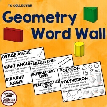 GEOMETRY WORD WALL - From the TC Collection