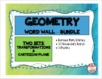 GEOMETRY - Word Wall Mini Bundle (Math Literacy)