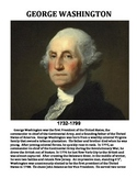 GEORGE WASHINGTON: BIOGRAPHY WORKSHEET, TEXT, QUIZ, ANSWER KEY (GRADES 4 - 8)