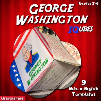 GEORGE WASHINGTON: An IQubes Freebie Foldable by GravoisFare