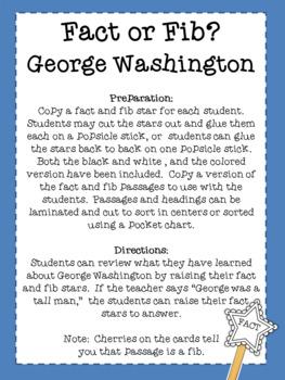 GEORGE WASHINGTON: FACT FOR FIB