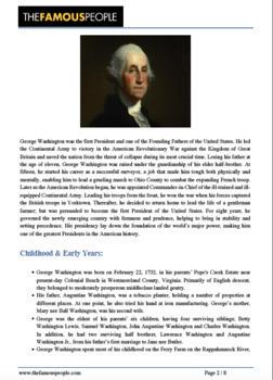 GEORGE WASHINGTON Timeline Poster Acrostic Poem Activity with Reading Passage